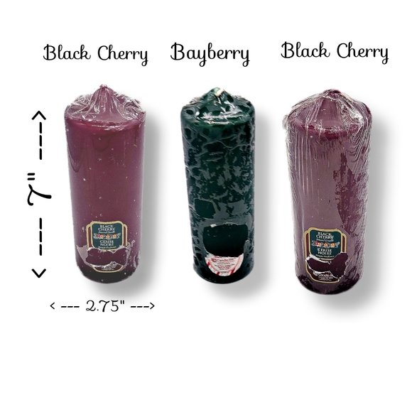 Candle-lite ~ Black Cherry, Bayberry, Scented